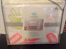 4 Pc Nursery Crib Set Coral Baby Bedding Comforter Blanket Fitted Sheet Skirt