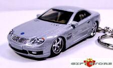 RARE KEY CHAIN SILVER MERCEDES SL SL350 SL500 SL 600 SL55 SL65 LIMITED EDITION