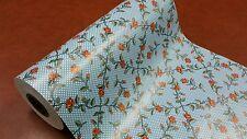 Full ream 18 inch wide Polka Dot Roses gift wrap 833 feet