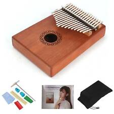 More details for kalimba 17 keys thumb piano with tune hammer portable wooden finger piano