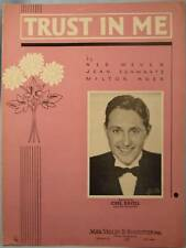 Vintage 1936 TRUST IN ME Sheet Music CARL RAVELL (O)