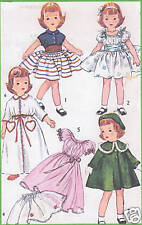 """4128 Vintage Slender Doll Clothes Pattern - Size 14"""" - Year 1959"""