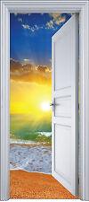 Adhesivo puerta trampantojo decoración Acostado del sol 90x200 cm ref 2115