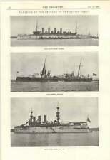1895 Baltic Canal Opening Us Cruiser Columbia New York Italian Partenope