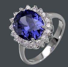 925 SILBER RHODINIERT *** Ring Zirkonia safir saphir blau , Größenauswahl