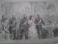 Los 3 emperadores en Berlín Wilhelm I Francisco José I y zar Alexander II 1872