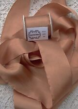 "100% PURE SILK RIBBON~BRONZE~ COLOR  1 1/2""[36MM] WIDE 30 YD SPOOL ~SALE~"