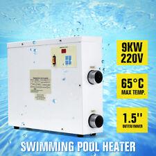 9KW 220V Piscina Banheira & Spa Aquecedor De Água Banho termostato Elétrico