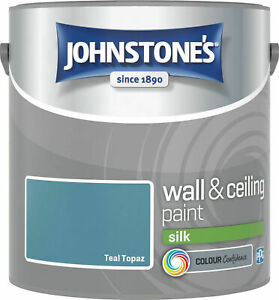 Johnstones Wall Ceiling Silk Emulsion Paint 2.5 Litres - ALL COLOURS