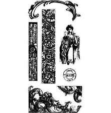 Stampington & Co Venetian Flourish Clearly Impressed Set Cling Rubber Stamp