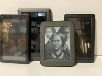 Lot Of 4 Android Tablets E-reader Nook BNRV200 RCA Proscan AS-IS FOR PARTS