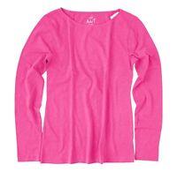 J.Crew Factory - Women's XS - NWT Crisp Berry Pink Long Sleeve Cotton Artist Tee