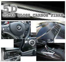 Real Look High Gloss 5D Carbon Fibre Vinyl Adhesive Bubble Free Tint Wrap