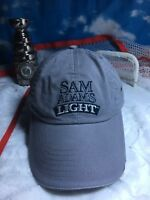 Sam Adams light lite adjustable strapback hat cap gray h48