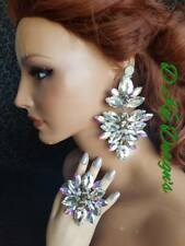 drag queen jewerly new crystal and AB large big gaudy set pageant handmade