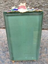 LOVELY FRENCH ANTIQUE XIX th. C. PICTURE FRAME ENAMEL BEVELLED GLASS
