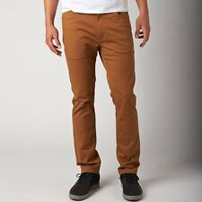 NWT FOX RACING Mens 28 x 32 SLIM Tapered Skinny PANTS Adobe FREE SHIPPING