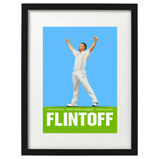 More details for freddie flintoff 2005 ashes cricket art print / poster