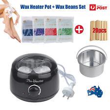 Depilatory 4packs Hard Wax Beads Beans Waxing Heater Hair Removal Body + Strips