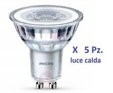 Set di 5 Faretti Philips Led GU10 4,6W- 50W GU10  luce calda 230V corepro 2700K