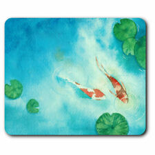 Computer Mouse Mat - Japanese Koi Carp Fish Pond Office Gift #16426