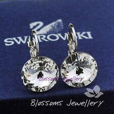 Swarovski White Gold Plated Hoop Fashion Earrings