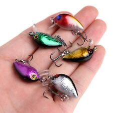 5 Pcs Topwater Wobbler Mini Fly Fishing Crankbait Cranks Lures Hard Baits Tackle