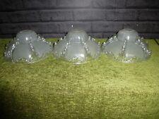 3 X FRENCH ART DECO EZAN STYLE GLASS SHADES