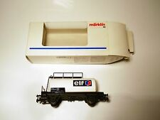 """SBB CFF Caldaia Carrello petroliere CAR """"undici"""", Märklin Marklin #4441,911 1:87 h0 Boxed!"""