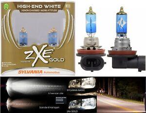 Sylvania Silverstar ZXE Gold H11 55W Two Bulbs Fog Light Replacement Upgrade OE