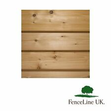 Pack of 15 2.4m (8ft) Treated Shiplap Cladding 150mm X 15mm Shed Fencing Wood