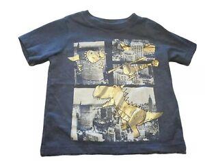 Children's Place Dinosaur Blue 3T Short Sleeve T- Shirt