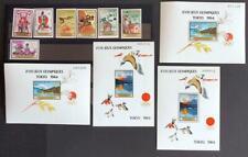 GUINEA 1964 OLYMPICS, XF OVP MNH** Sheets + Set, Sports Panarab, Birds, Stamps