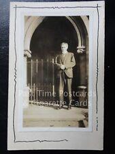 c1928 RPPC - Rev R. J. Wilkinson - Image of Vicar - Unknown location