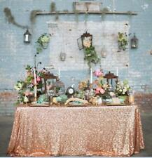 """90""""x132"""" Rose Gold Sequin Tablecloth Sparkling Sequin Table Covers RECTANGULAR"""