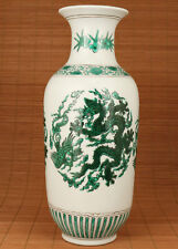 EXQUISITE CHINESE BLUE AND WHITE PORCELAIN HAND PAINTING DRAGON STATUE BIG VASE