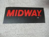 4 1/2'' ORIGINAL MORTAL KOMBAT 2  midway logo    NOS STICKER   arcade game