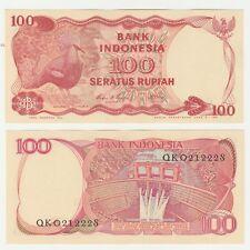 Indonesia 100 Rupiah 1984 P-122 UNC Banknote - Dam - Goura Victoria Bird Pigeon