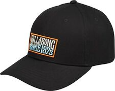 BILLABONG MENS BASEBALL CAP.WALLED SNAPBACK BLACK COTTON CURVED PEAK HAT 8W 1 19