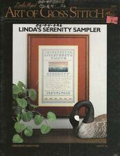 Vintage 1986 Linda's Serenity Sampler Cross Stitch Chart