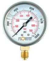 100mm calibre 0-6000 PSI de presión de 0-400 Bar CL1.0 3//8 BSP inferior S/&J 931E35J