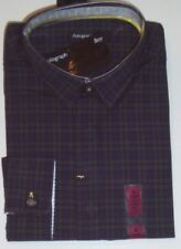 Boys Long Sleeve Shirt Age 9 Years M&s Autograph Cotton Navy Green Check