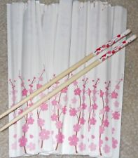 """Lot of 12 sets pairs Cherry Blossom wood chopsticks 9"""" wedding party favors"""