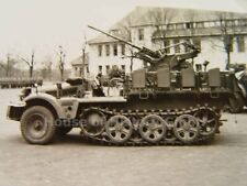 118710: ALBUM PHOTO Fla Bataillon, Demag Halbkette avec 2 cm Flak, EM 1 M r36