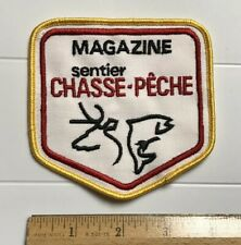 Magazine Sentier Chasse-Peche Quebec Canada Fish Deer Souvenir Embroidered Patch