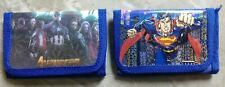 Childrens wallet Superman & Iron-man lot of 2 see photos Brand New