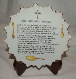 Vintage Little Kitchen Prayer Plate Porcelain Japan