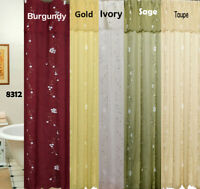 Daisy Embroidery 3D Fabric Shower Curtain New Creative Linens FREE S&H