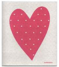 NEW Pink Love Heart Design Eco Friendly Kitchen Dishcloth