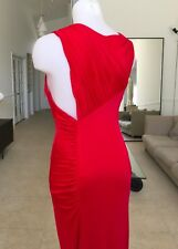 GIANNI VERSACE COUTURE red pleated evening gown